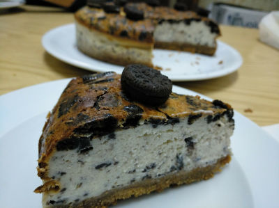 Chessecake de oreo con base crujiente de galleta
