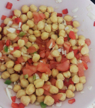 Garbanzos con vinagreta